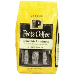 Peet's Coffee & Tea Colombia Luminosa Ground Coffee, 12 Ounce