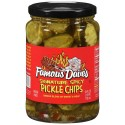 Famous Dave's Signature Spicy Pickles 24 Ounce  Glass Jar, Pickle Chips