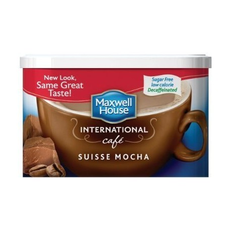 Maxwell House International Coffee Decaf Sugar Free French Vanilla Cafe, 4-Ounce Cans
