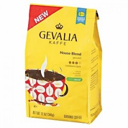 Gevalia, Kaffe, Ground Coffee, House Blend Decaf, 12oz Bag