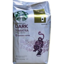 Starbucks Ground Coffee Dark Sumatra Net Wt 12 oz (340 g)
