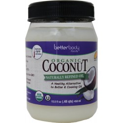 BetterBody Foods & Nutrition Organic Coconut Oil, 15.5 Ounce