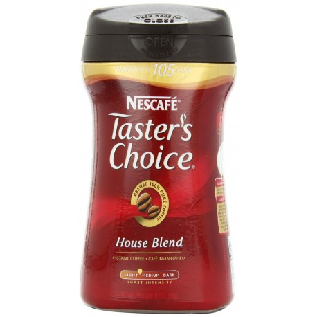 Taster's Choice Instant House Blend Coffee, 7 Ounce Canisters