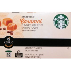 Starbucks Caramel Coffee K-Cup Portion Pack, 10 Count