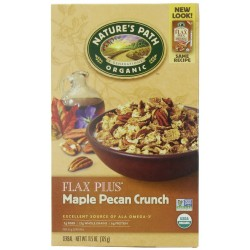 Nature's Path Organic Flax Plus Maple Pecan Crunch Cereal, 11.5-Ounce Box