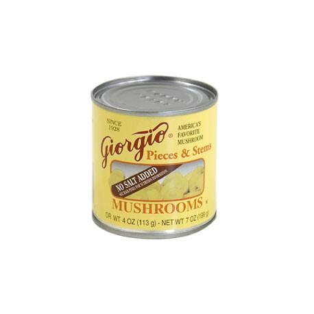 Giorgio No Salt Added Mushrooms 4 Ounce
