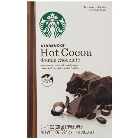 Starbucks® Double Chocolate Hot Cocoa Mix, 8 count - 1 ounce envelopes