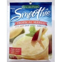 Concord Tropical Mango Smoothie Mix, 1.8oz 6  Packets