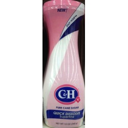 C&H, Pourable, Quick Dissolve, Superfine, Pure Cane Sugar, 12 Ounce Container