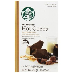 Starbucks Hot Cocoa Mix, Vanilla Brulee, 8 Ounce