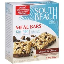 South Beach Diet Meal Bars, Chocolate Chunk, 8.8 Ounce