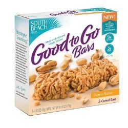 South Beach Good to Go Bars, Peanut Butter 1.23 Ounce 4 Bars