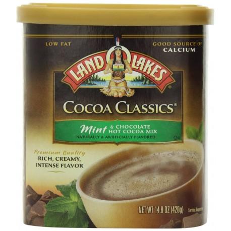 Land O Lakes, Cocoa Classics, Mint Hot Cocoa Mix, 14.8oz