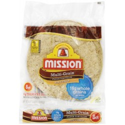 Mission Multi-Grain Medium Soft Taco Flour Tortillas - 8 CT
