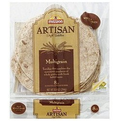 Mission, Artisan, Small Fajita Tortillas, 8 Count, 10.4 Ounce Bag -   (Multigrain)