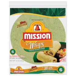 Mission, Garden Spinach Herb Wraps, 15 Ounce  Package