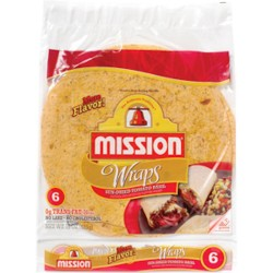 Mission, Sun-Dried Tomato & Basil Wraps, 6 Count, 15 Ounce Package