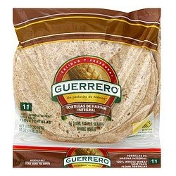 "Guerrero Wheat Whole Tortillas 11 Count 8 ""  (2 packages)"