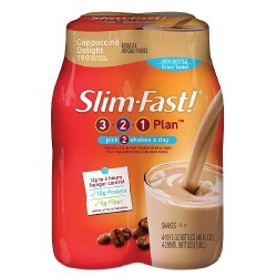 Slim-Fast 3-2-1 Ready to Drink Shake 4 ea (Cappuccino Delight, Pack of 1)