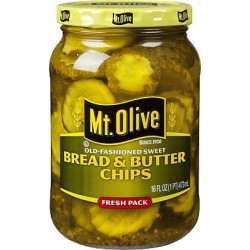 Mt. Olive Old Fashioned Sweet Bread & Butter Chips 16 Oz