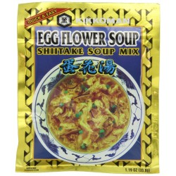 Kikkoman EGG FLOWER SOUP SHIITAKE Soup Mix 1.19oz (4 Pack)