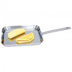 """Chef's Secret® by Maxam® 11"""" T304 High-Quality Stainless Steel Square Griddle"""