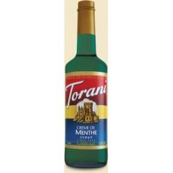 Torani Creme De Menthe Syrup 750mL