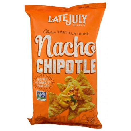 Late July Snacks Clasico Tortilla Chips Nacho Chipotle  5.5 Ounce