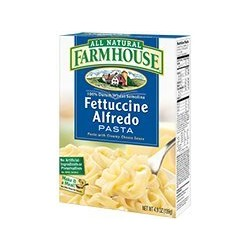 Farmhouse, All Natural, Fettuccine Alfredo, 4.9 Ounce Box (Pack of 6)