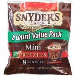 Snyder's Mini Pretzels, 8-Bag Packs (Pack of 4)