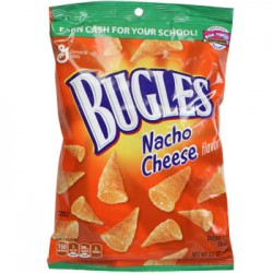 Bugles Nacho Cheese Flavor Corn Snacks, 3.7-oz. Bags (Pack of 4)