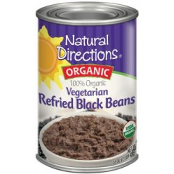 Organic Vegetarian Refried Black Beans By Natural Direction