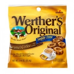 3 Packs of Werther's Originals Sugar-Free Caramel-Coffee Candies, 1.46-oz. Bags