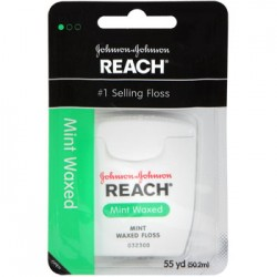 3 Packages of Johnson & Johnson Reach Waxed Mint Dental Floss