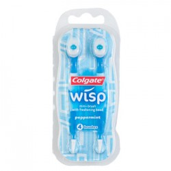 3 Packs of Colgate Wisp Peppermint Flavored Mini-Toothbrushes, 4-ct. Packs