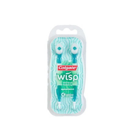 3 Packs of Colgate Wisp Spearmint Flavored Mini-Toothbrushes, 4-ct. Packs