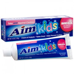 Aim Kids Mega Bubble Berry Gel Toothpaste, 4.8 oz