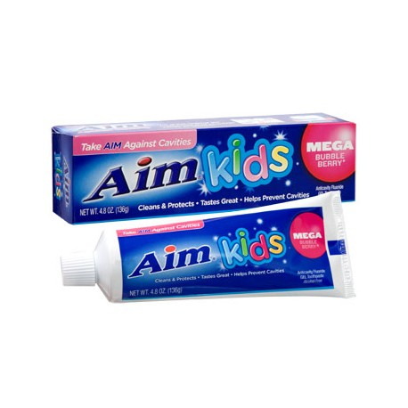 Aim Kids Mega Bubble Berry Gel Toothpaste, 4.8 oz