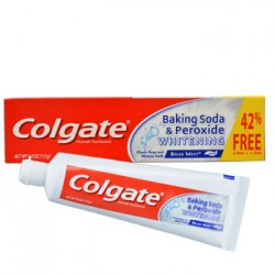 Colgate Whitening Gel Toothpaste with Baking Soda and Peroxide, 4-oz. Tubes