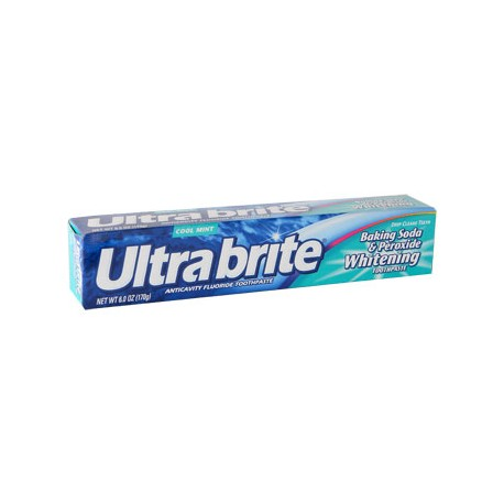 Ultra Brite Cool Mint Toothpaste with Baking Soda & Peroxide, 6 oz.