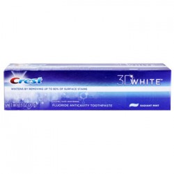 Crest 3D White Radiant Mint Toothpaste, 2.5-oz. Tubes