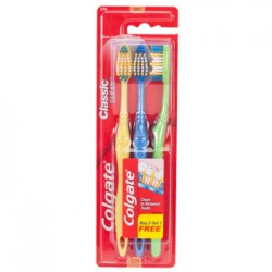 Colgate Classic Clean Soft-Bristle Toothbrushes, 3-ct. Bonus Packs