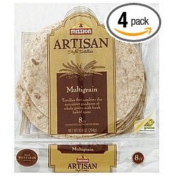 Mission, Artisan, Small Fajita Tortillas, Multi-grain 8 Count (Pack of 4)