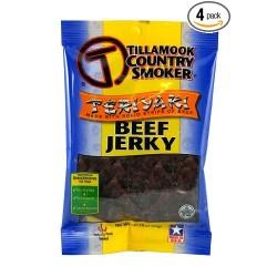 Tillamook Teriyaki Jerky, 3.25-Ounce (Pack of 4)