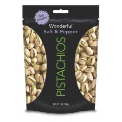 Wonderful Pistachios, Salt and Pepper, 7 Ounce (Pack Of 3)