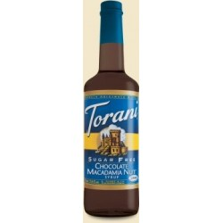 Torani Sugar Free Chocolate Macadamia Nut Syrup, 750 ml