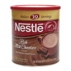 Nestle Hot Cocoa Mix, Rich Milk Chocolate (39 Servings), 27.7-Ounce Canisters