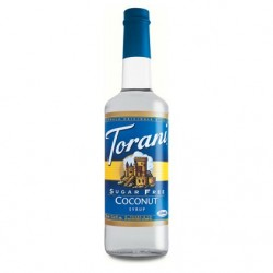 Torani Sugar Free Coconut Syrup (1 Single 750 ml bottle)