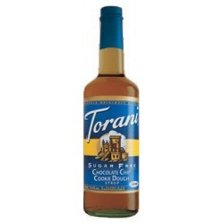 Torani Sugar-Free Chocolate Chip Cookie Dough Drink Syrup, 750mL bottle