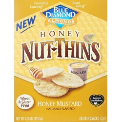 3 Boxes of Blue Diamond Honey Nut-Thins, Mustard, 4.25 Ounce